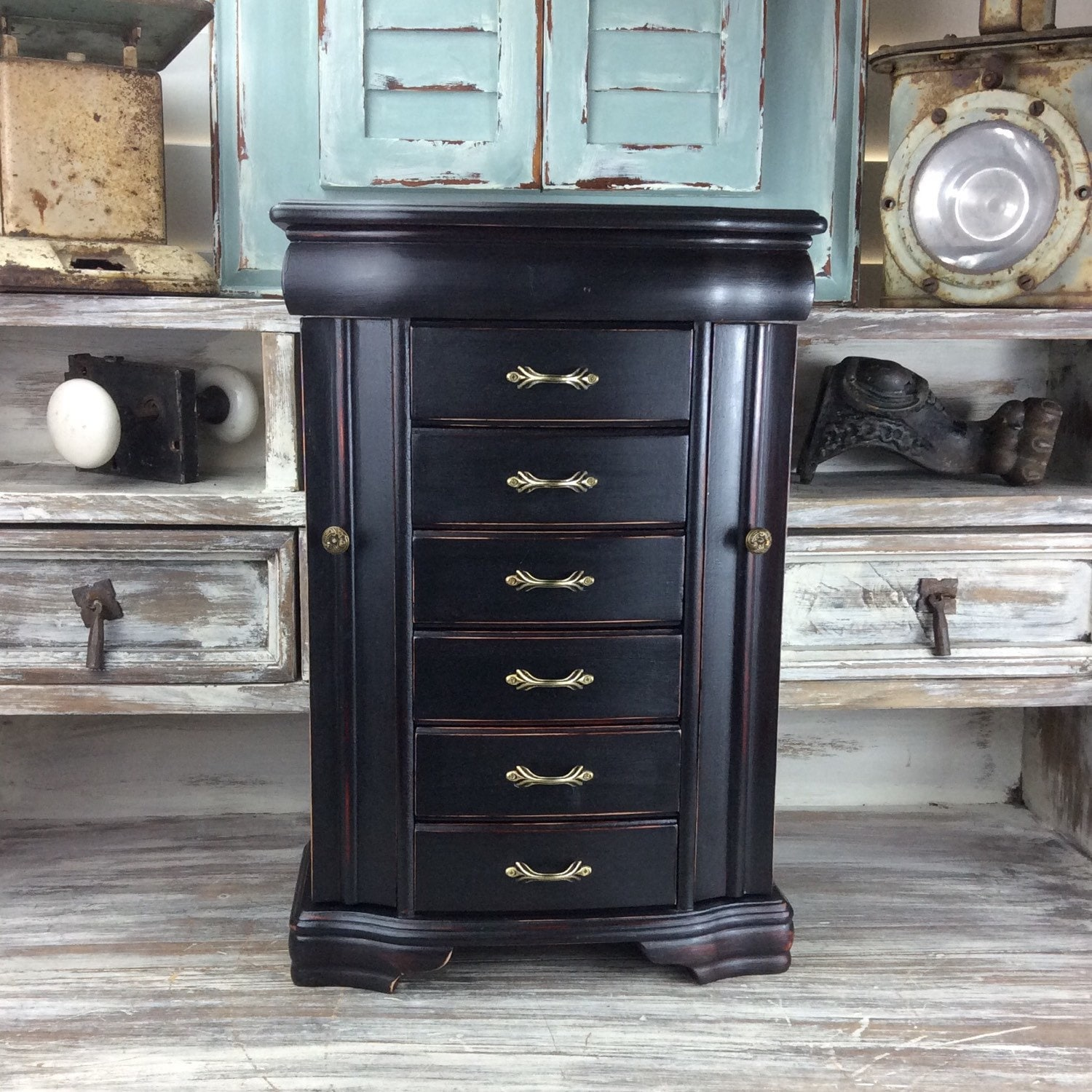 FABULOUS JEWELRY ARMOIRE Black Jewelry Box Large by ...