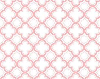 Sorbets Collection Pastel Pink Geometric Design, Quilting Treasures  (By 1/2 yd)