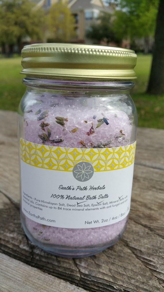 Lavender Bath Salts Detoxifying Lavender Aromatherapy Bath