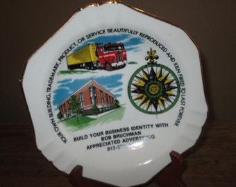 Vintage Ceramic Advertising Ashtray Sample - Advertising Memorabilia - Promotional