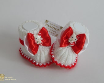 Baby Booties.Crochet Baby Booties.Baby Girl shoes.Photo Prop. Made to order