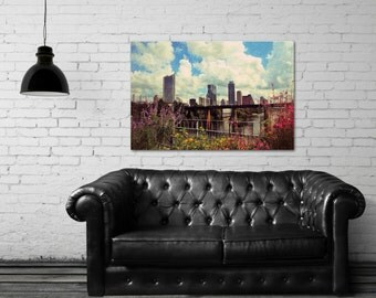 Canvas Gallery Wrap - Austin Flowers - Cityscape - Scenic View - Flowers - Austin, TX - Fine Art Photography