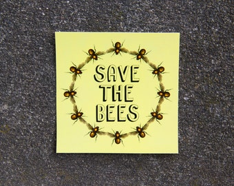 Save the Bees Sticker, Honeybees, Car Decal