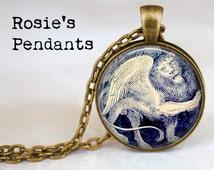 Mythical Winged Lion - Classic Art Jewelry - Leo Pendant