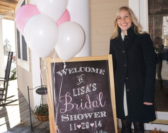 Bridal Shower Welcome Sign; Customized Digital File