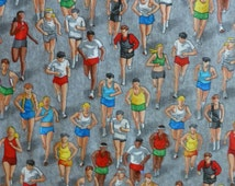 Cotton Fabric, Quilt, Clothing,Sports Running Timeless Treasures #gm-C2889, Fast Shipping, S103