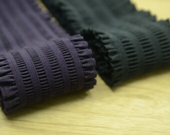 """3"""" 75mm Wide Shirring elastic ,Ruffled Elastic,Waistband Elastic,Sewing Elastic- 1 Yard"""