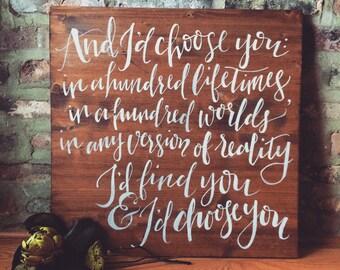 Wooden Love Quote Board
