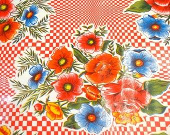 """Kitsch red kitchen oilcloth """"Ramilletes"""""""