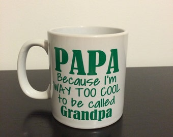 Personalized Papa/Grandpa Coffee Mug