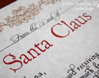 Handwritten and *Completely Customized * Letter from Santa / Letter from Santa / Letters from the North Pole / Handwritten Letter From Santa