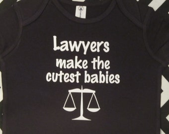 Lawyer baby, attorney baby, infant lawyer, future attorney, infant attorney, lawyer gift, attorney gift, funny lawyer, funny attorney