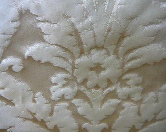 Rich gold and ivory silk damask
