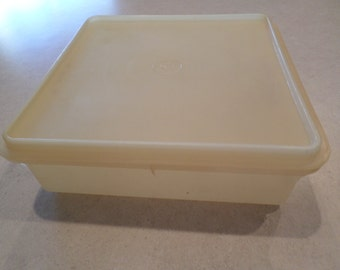 Vintage 1970 Tupperware Square Cold Cut Saver
