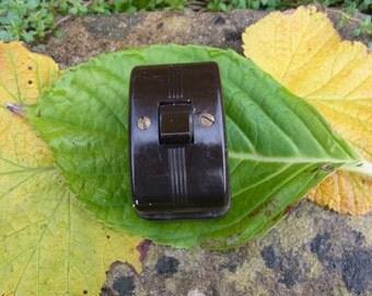 Vintage Bakelite light switch...Steampunk