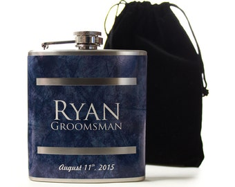 Flasks for Groomsmen, Personalized Groomsmen Gifts