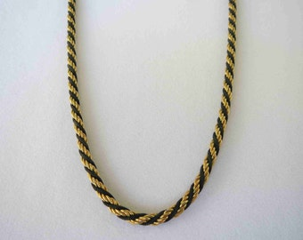 TRIFARI Gold and Black Necklace