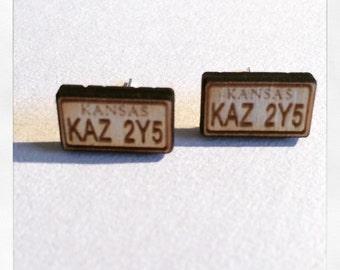Supernatural Inspired Impala Numberplate Earrings
