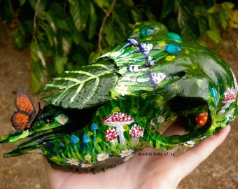 Forest Floors and Flower Beds: Embellished Lamb Skull