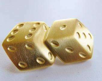 JJ Jonette Roll The Dice Lucky Seven Brooch Pin