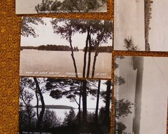 Real Photo Postcard rppc Lot of 6 Northern Wi Wisconsin Chetek, Rib Lake, Rhinelander