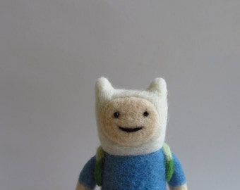 Finn and Jake Adventure time - felted toy - eco friendly - needle felting - collectible toys - Adventure time toys - unique gift - felt doll