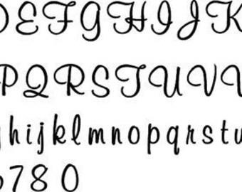 Font Styles I - 3mm