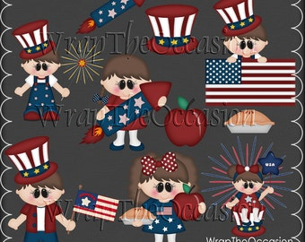 God Bless America Kids Exclusive Clipart