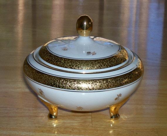 vintage kerafina porzellan bavaria germany sugar bowl. Black Bedroom Furniture Sets. Home Design Ideas