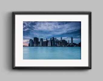Manhattan Island Skyline, New York, fine art print