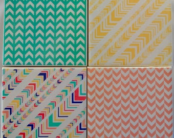 Ceramic Tile Coasters - Retro Geometric sara's collection