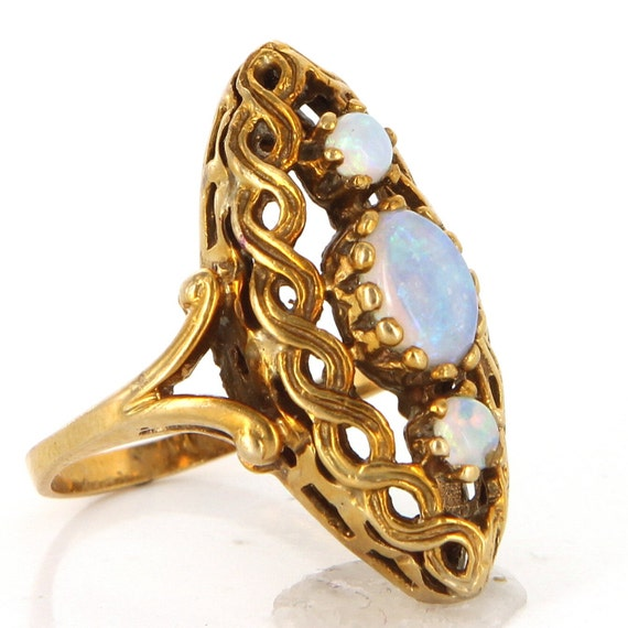 Items Similar To Opal Ring Exquisite Braided Opal: Items Similar To Vintage 14 Karat Yellow Gold Opal