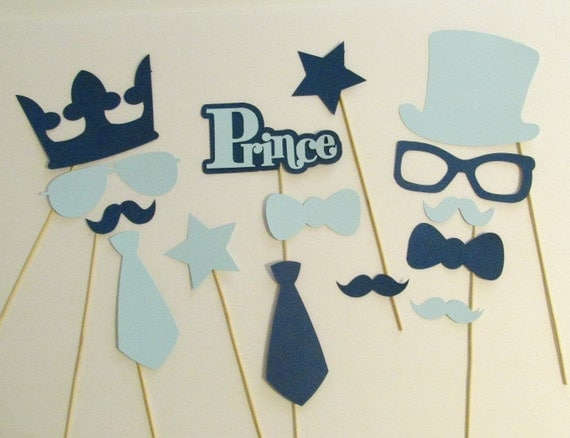 Little Man Party Photo Booth Props Little Man Decorations Boy