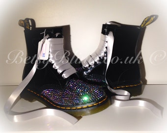Crystal Dr Martens, Custom bling Dr Martens Free UK Delivery