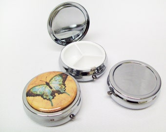 """Pill Box Case Blanks - 1.75"""" Button Fits Perfectly on Top - 12 Boxes"""