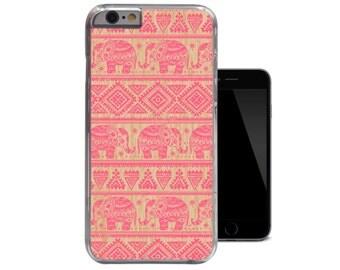 Ornate Pink Elephants Wood iPhone 6 Case Aztec iPhone 5 Case Tribal iPhone 5c Case Ethnic Wood iPhone 4 Case Unique iPhone 4s 5s Case (A261)