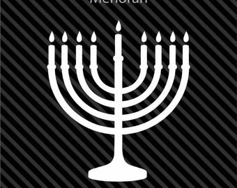 JUDAISM MEMORAH JEWISH - Car Window Computer Decal Sticker - Sizes And Colors