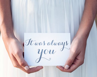 it was always you wedding day card gift to groom from bride card to