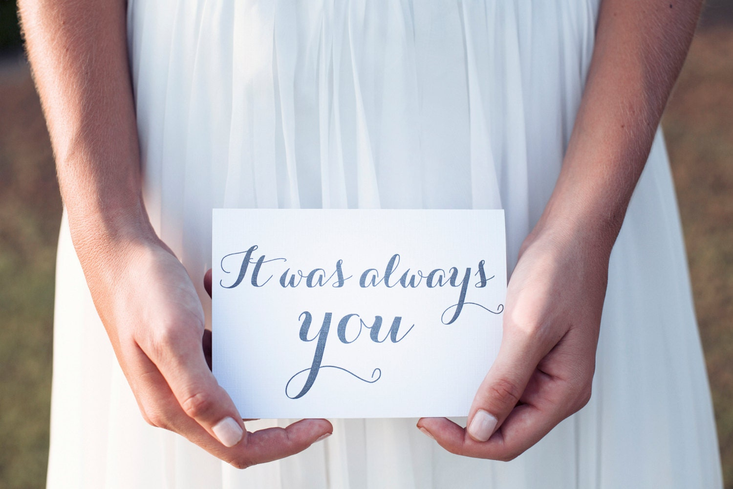 It Was Always You Wedding Day Card Gift To Groom From Bride