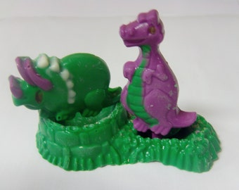 Purple & Green Dinosaur Cake Topper-Perfect For Barney Birthday Parties!