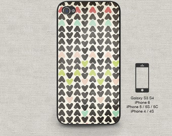 Cell phone case iphone 6 Hand Drawn Hearts 154