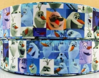 5 YDS Frozen Olaf Collage Ribbon
