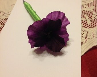 Dark Purple Pansy Pen