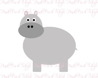 Digital Hippo Clip Art