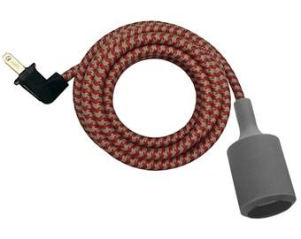 GRAY SILICONE LAMP w/ keyless socket