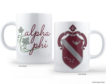 Alpha Phi Crest Sorority Mug