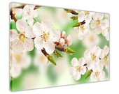 Green Spring Flowers Canvas Art Pictures Wall Prints Home Decoration Framed Poster Floral Art