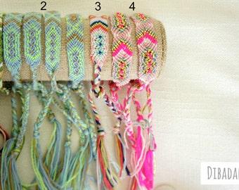 Friendship Bracelets - Woven Braided Bracelets - Colorful bracelets - Gifts for her - Beach Jewelry - 1 piece