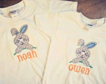Children's Easter Bunny Shirt (With Monogrammed Name)