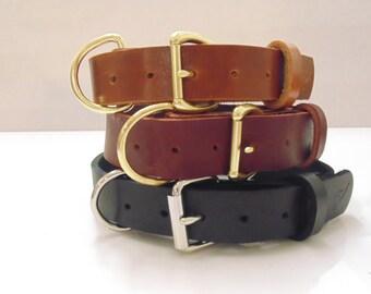 "Colossal 1 1/4"" Latigo Leather Dog Collar"
